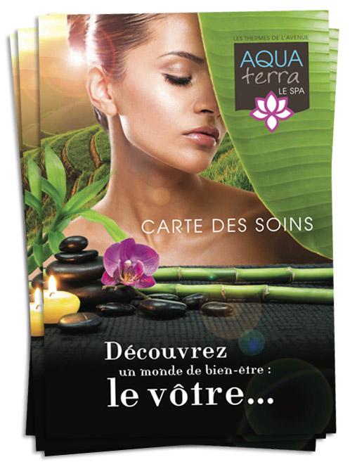 Brochure/carte de soins Spa Aqua Terra à Dax
